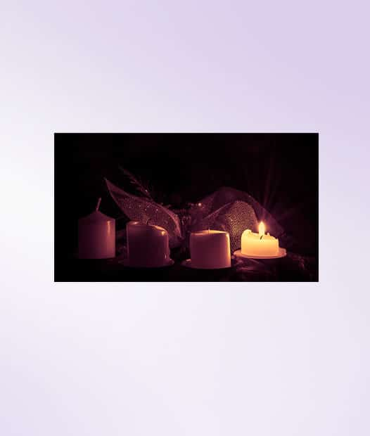 advent prayer service candles