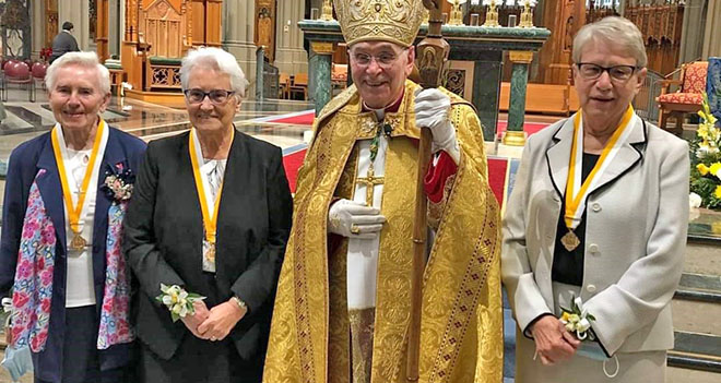 Pontifical Honors for Three Sisters